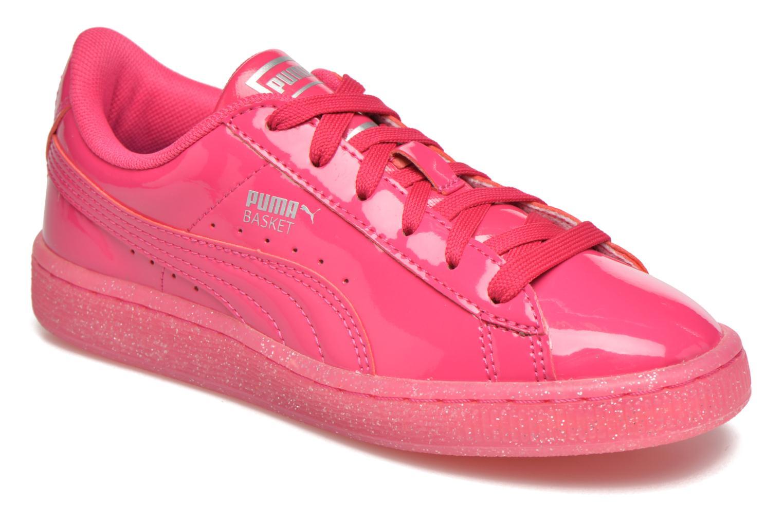 Puma Sneakers Panier Paillettes Roze Junior Glacé Brevet QeAz5WHZE2