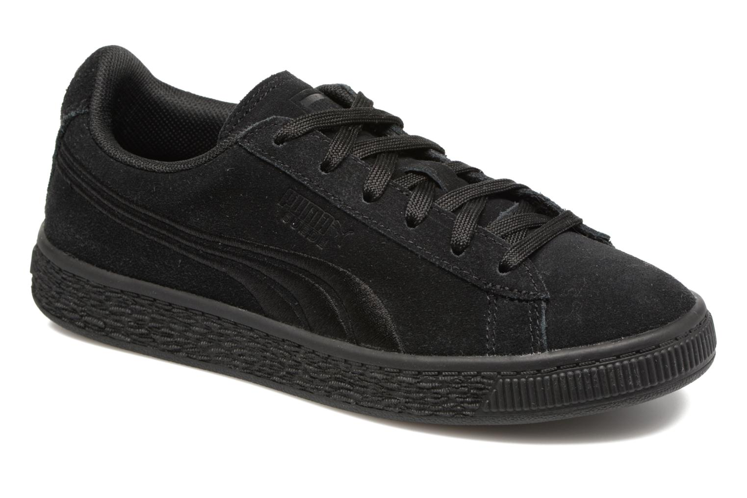 Baskets Puma Suede Classic Badge Jr Noir vue détail/paire