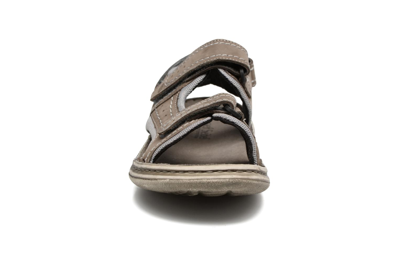 Sandales et nu-pieds Josef Seibel Max 03 Gris vue portées chaussures