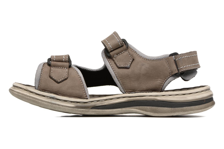Sandales et nu-pieds Josef Seibel Max 03 Gris vue face