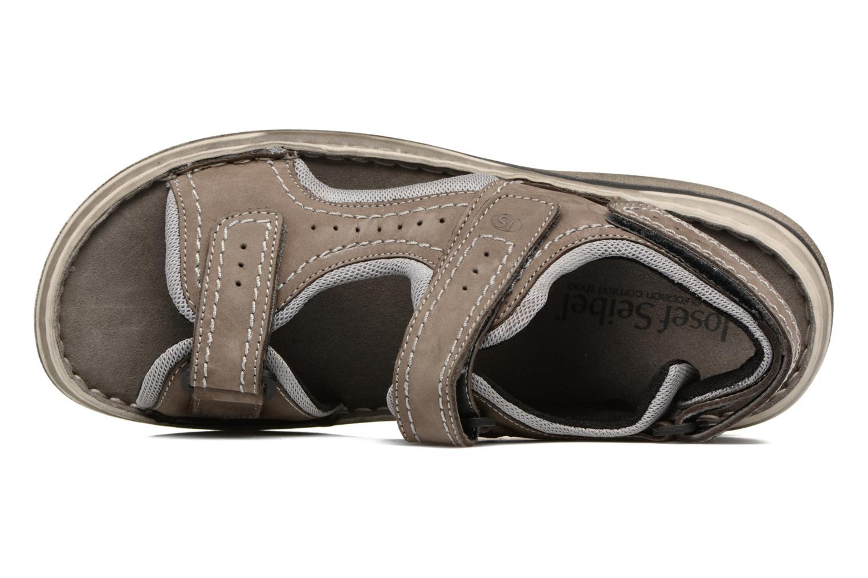 Sandales et nu-pieds Josef Seibel Max 03 Gris vue gauche