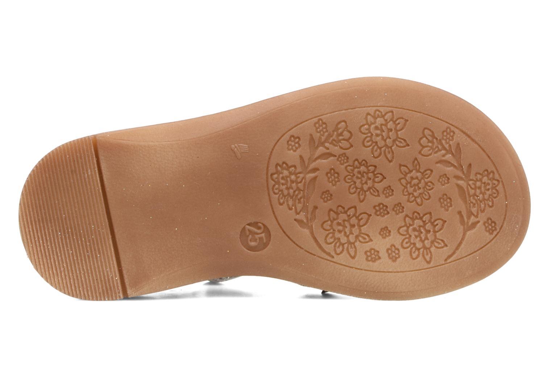 Sandales et nu-pieds Acebo's Sofia Argent vue haut