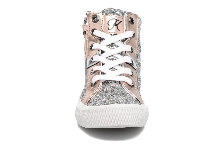 Baskets Kaporal Ambrosio Argent vue portées chaussures