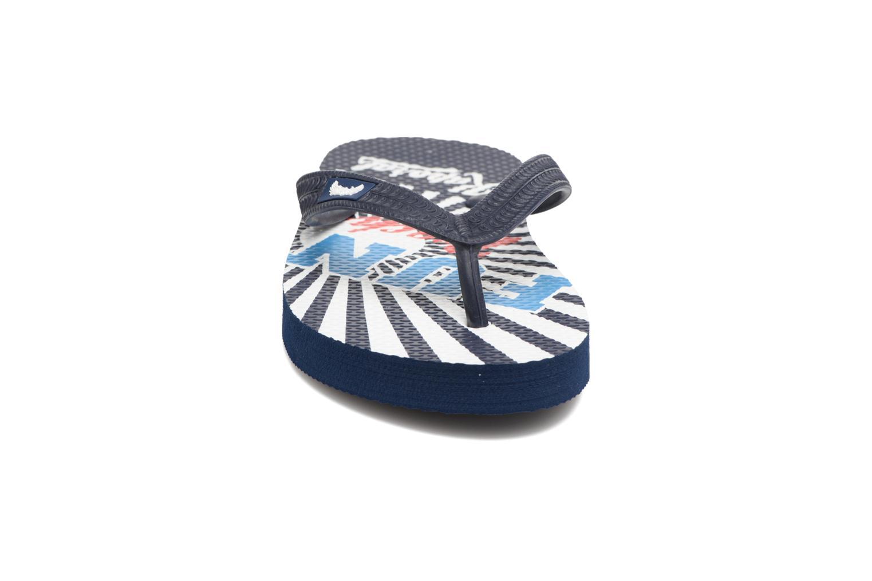 Tongs Kaporal Surfun Bleu vue portées chaussures