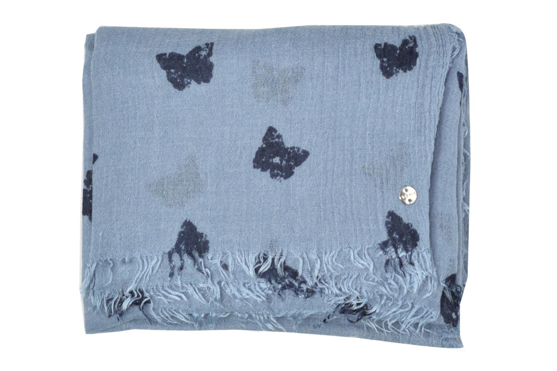 Butterfly Print Scarf Light blue