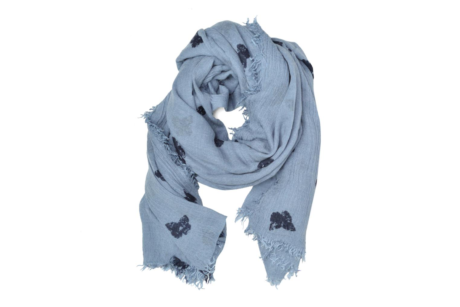 Butterfly Print Scarf Light blue