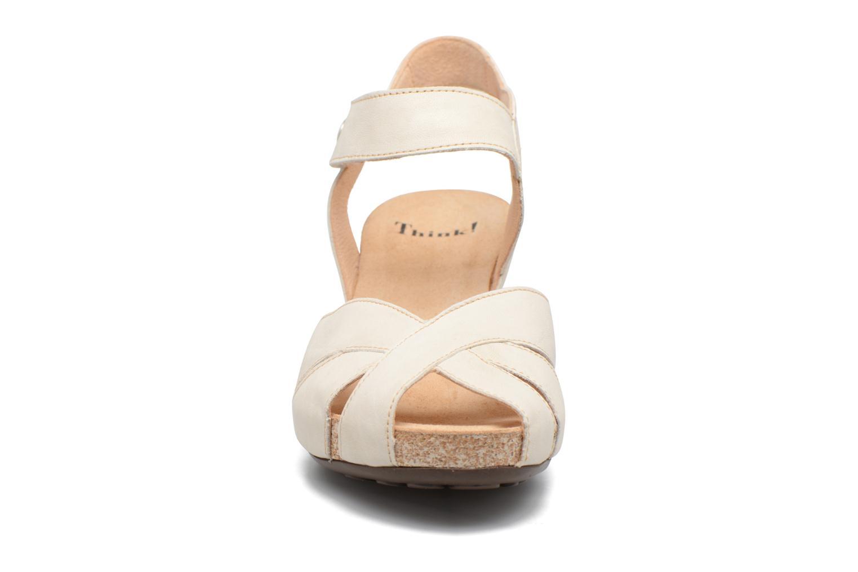 Sandales et nu-pieds Think! Traudi 80574 Blanc vue portées chaussures