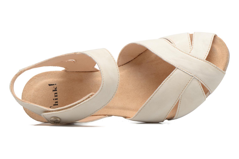 Sandales et nu-pieds Think! Traudi 80574 Blanc vue gauche