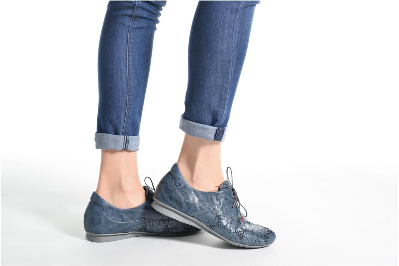 Chaussures à lacets Think! Chili 80102 Bleu vue bas / vue portée sac