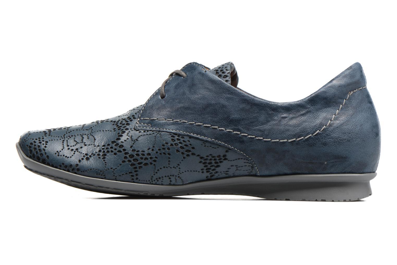 Chaussures à lacets Think! Chili 80102 Bleu vue face