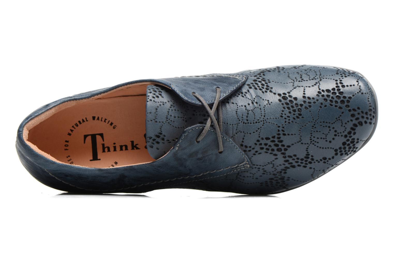Chaussures à lacets Think! Chili 80102 Bleu vue gauche
