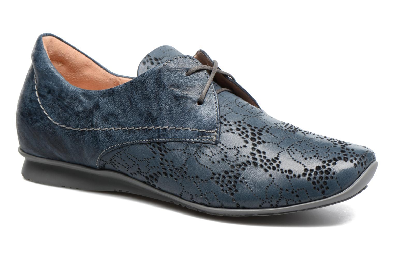 Chaussures à lacets Think! Chili 80102 Bleu vue détail/paire