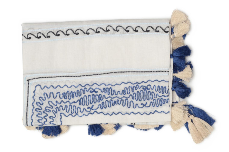Divers Esprit Cotton embroidery scarf 102x102 Blanc vue portées chaussures