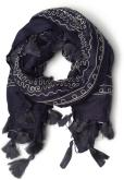 Divers Accessoires Cotton embroidery scarf 102x102