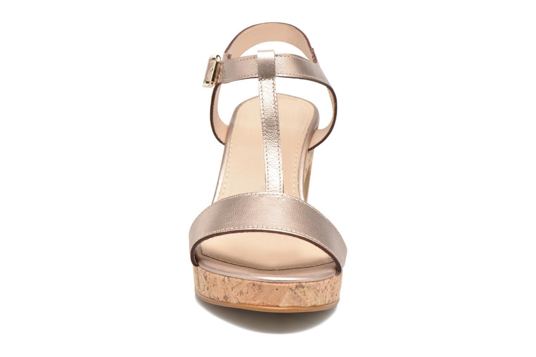 Sandales et nu-pieds JB MARTIN Rigato Or et bronze vue portées chaussures