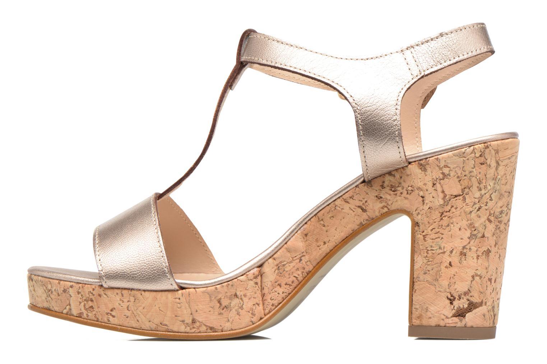Sandales et nu-pieds JB MARTIN Rigato Or et bronze vue face