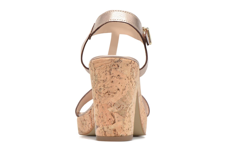 Sandales et nu-pieds JB MARTIN Rigato Or et bronze vue droite