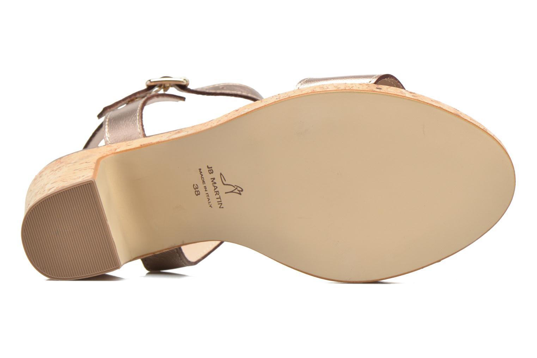 Sandales et nu-pieds JB MARTIN Rigato Or et bronze vue haut