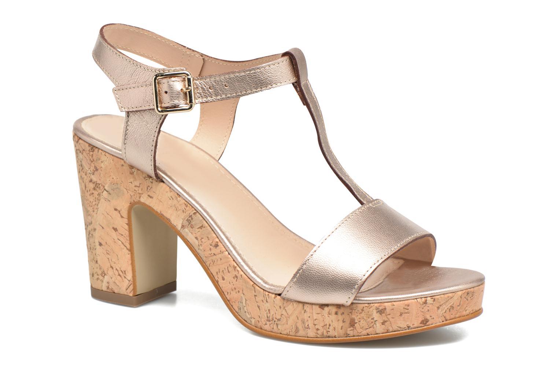 Sandales et nu-pieds JB MARTIN Rigato Or et bronze vue détail/paire