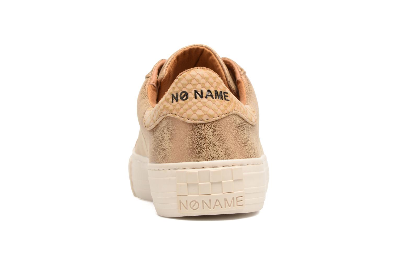 Baskets No Name Arcade Sneaker Glow Or et bronze vue droite