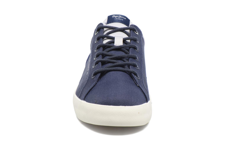 Baskets Pepe jeans North Nylon Bleu vue portées chaussures