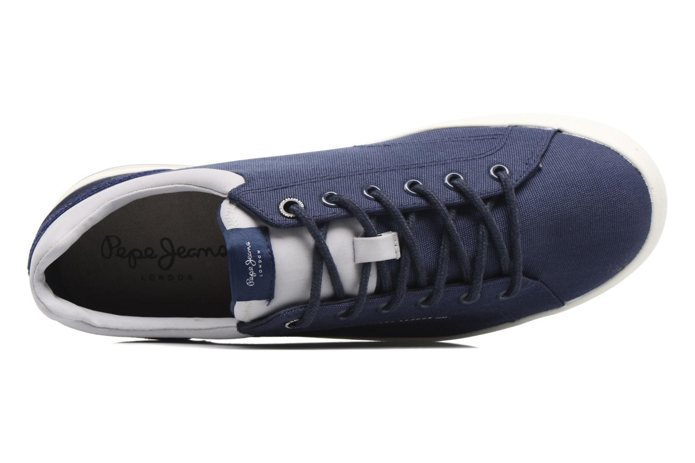 Baskets Pepe jeans North Nylon Bleu vue gauche