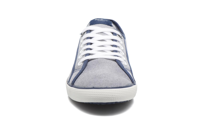Baskets Pepe jeans Aberman Court Bleu vue portées chaussures