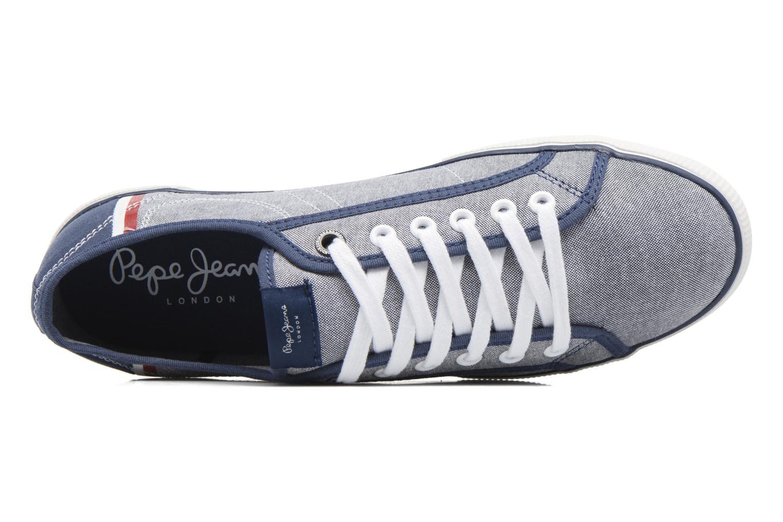 Baskets Pepe jeans Aberman Court Bleu vue gauche