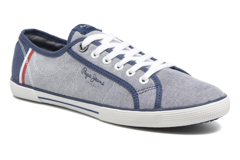 Baskets Pepe jeans Aberman Court Bleu vue détail/paire