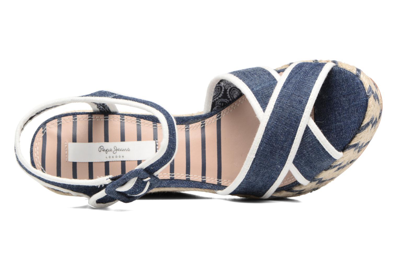 Sandalias Pepe jeans Walker Denim S17 Azul vista lateral izquierda