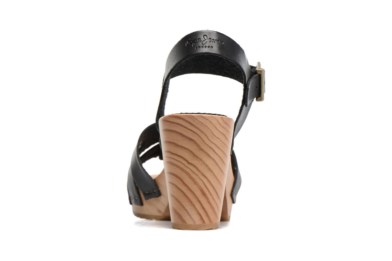 Sandales et nu-pieds Pepe jeans Oly Noir vue droite