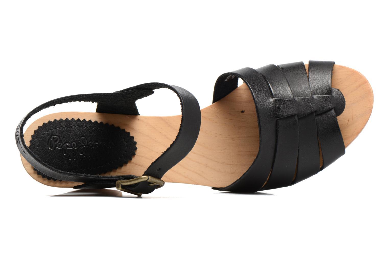 Sandales et nu-pieds Pepe jeans Oly Noir vue gauche