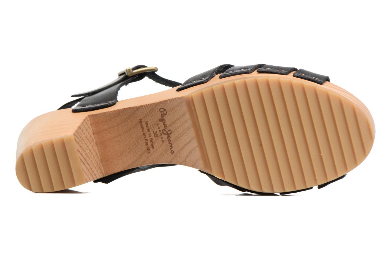 Sandales et nu-pieds Pepe jeans Oly Noir vue haut