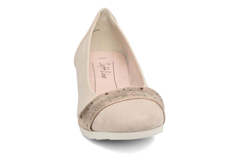 Ballerines Jana shoes Sofia Beige vue portées chaussures