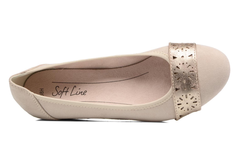 Ballerines Jana shoes Sofia Beige vue gauche