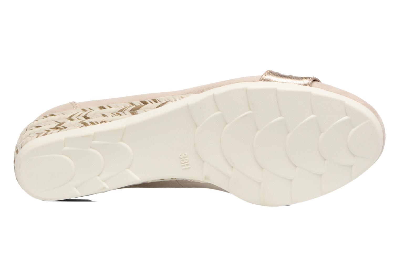 Ballerines Jana shoes Sofia Beige vue haut