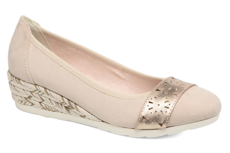 Ballerines Jana shoes Sofia Beige vue détail/paire
