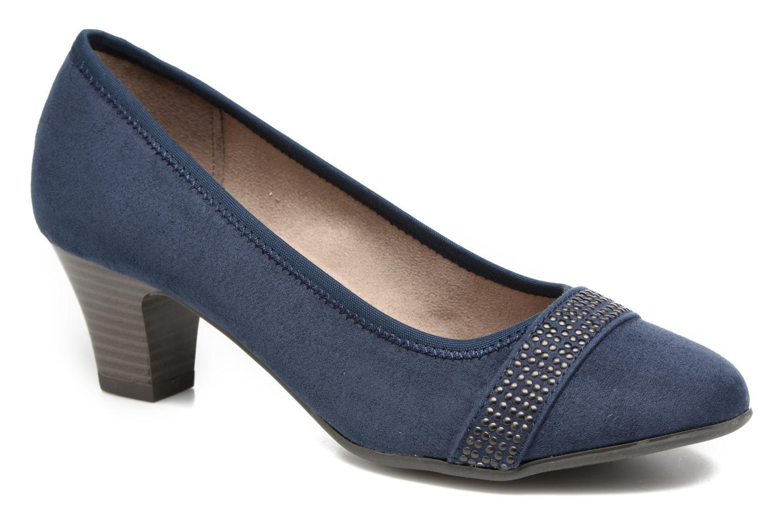 Escarpins Jana shoes Carla 2 Bleu vue détail/paire