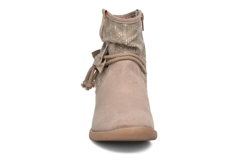 Bottines et boots Jana shoes Karen Beige vue portées chaussures