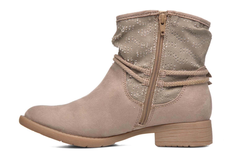 Bottines et boots Jana shoes Karen Beige vue face