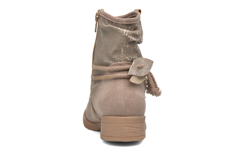 Bottines et boots Jana shoes Karen Beige vue droite