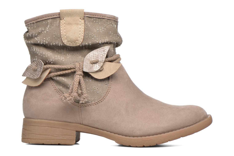Bottines et boots Jana shoes Karen Beige vue derrière