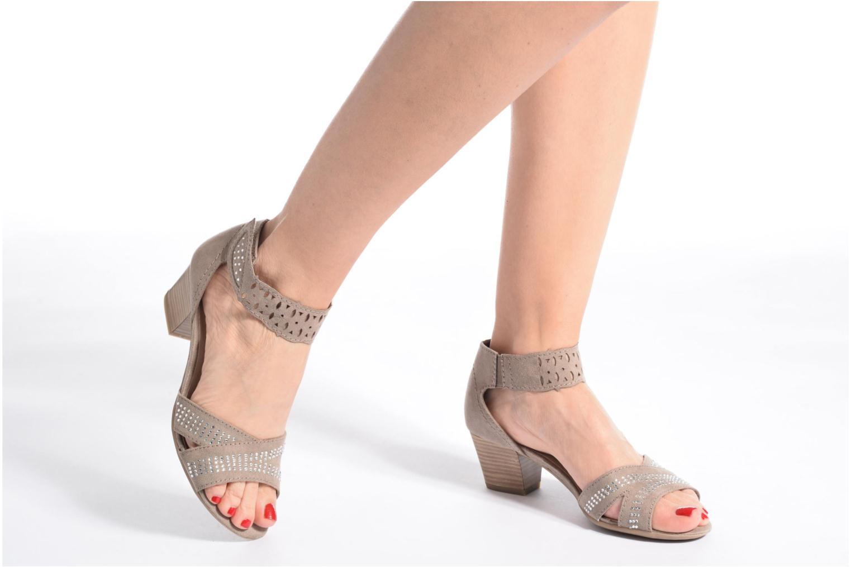 Sandales et nu-pieds Jana shoes Koni Beige vue bas / vue portée sac