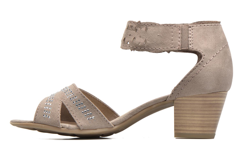 Sandales et nu-pieds Jana shoes Koni Beige vue face
