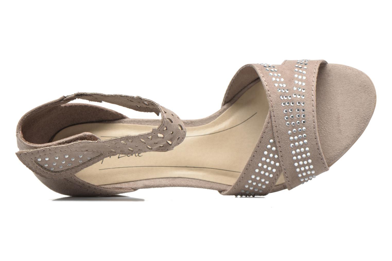 Sandales et nu-pieds Jana shoes Koni Beige vue gauche