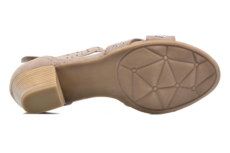 Sandales et nu-pieds Jana shoes Koni Beige vue haut