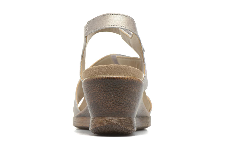 Sandales et nu-pieds Romika Nevis 07 Argent vue droite