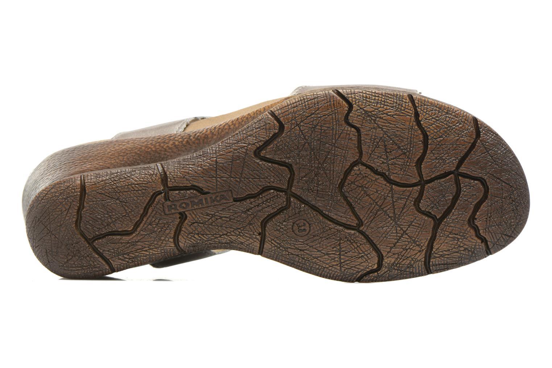 Sandales et nu-pieds Romika Nevis 07 Argent vue haut