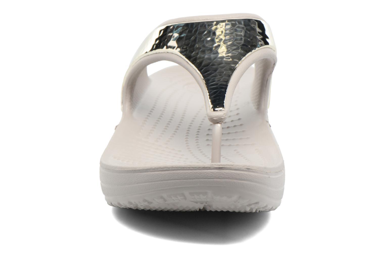 Tongs Crocs Crocs Sloane Embellished Flip Argent vue portées chaussures