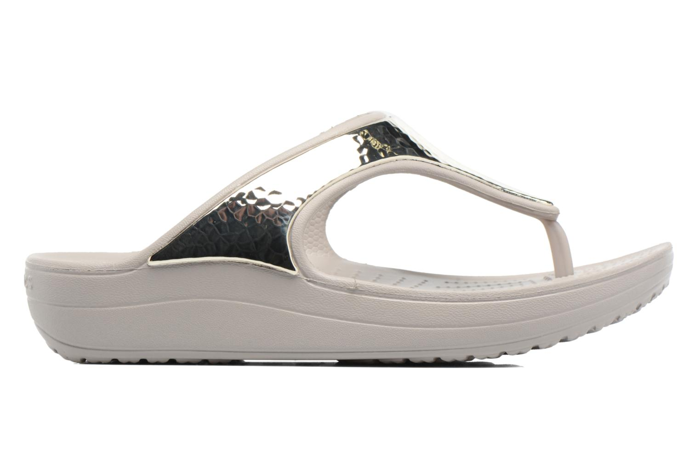 Tongs Crocs Crocs Sloane Embellished Flip Argent vue derrière